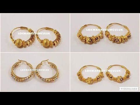 3af1b0a602106 Latest Gold Hoop Earrings Designs - YouTube BA😍💝 | ornaments in ...
