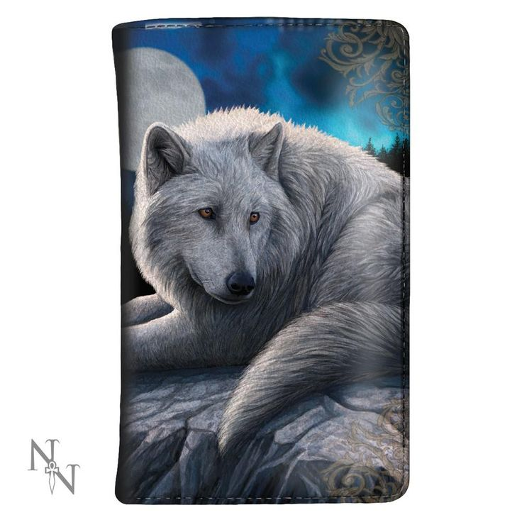 Nemesis Now Guardian of the North - Witte wolf portemonnee Multicolour