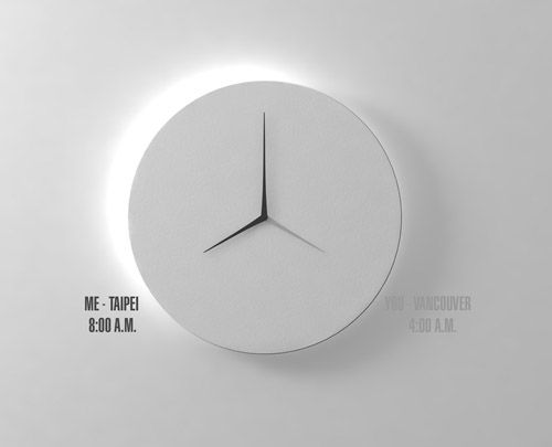 Hongkong-Taipei based designer Kit Men Keung has created a new dual-time wall clock for Taiwanese brand Verso Lab. Intended to allow users to read the time