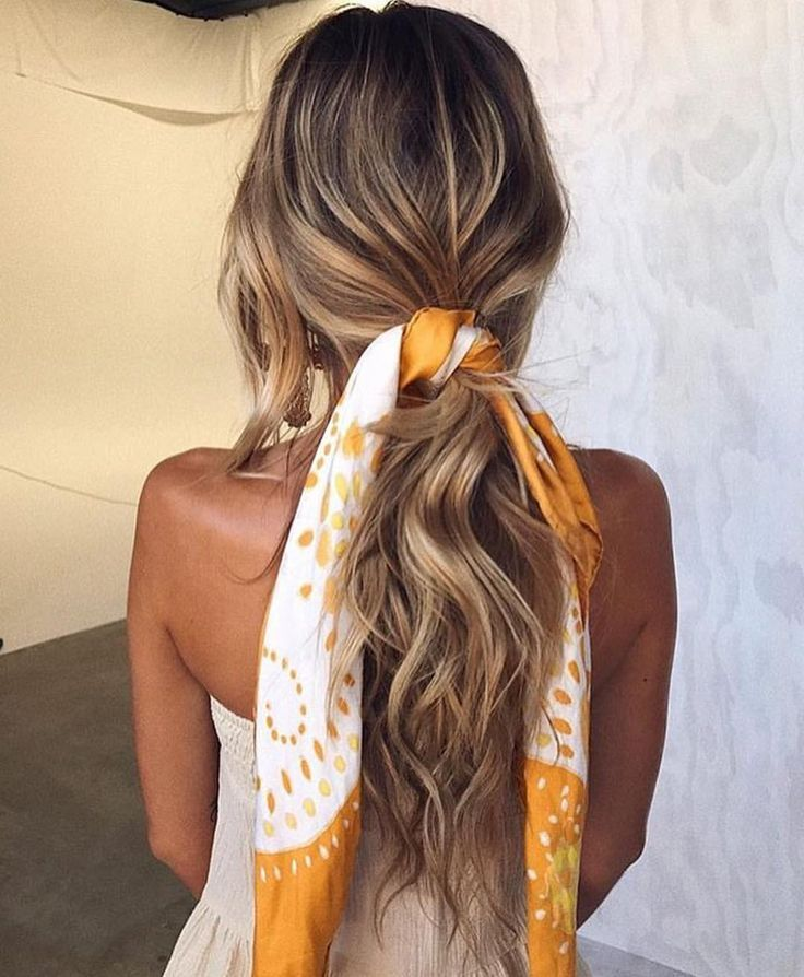 For A Fresh Sophisticated Look Tie A Scarf Around Your Pony Tail