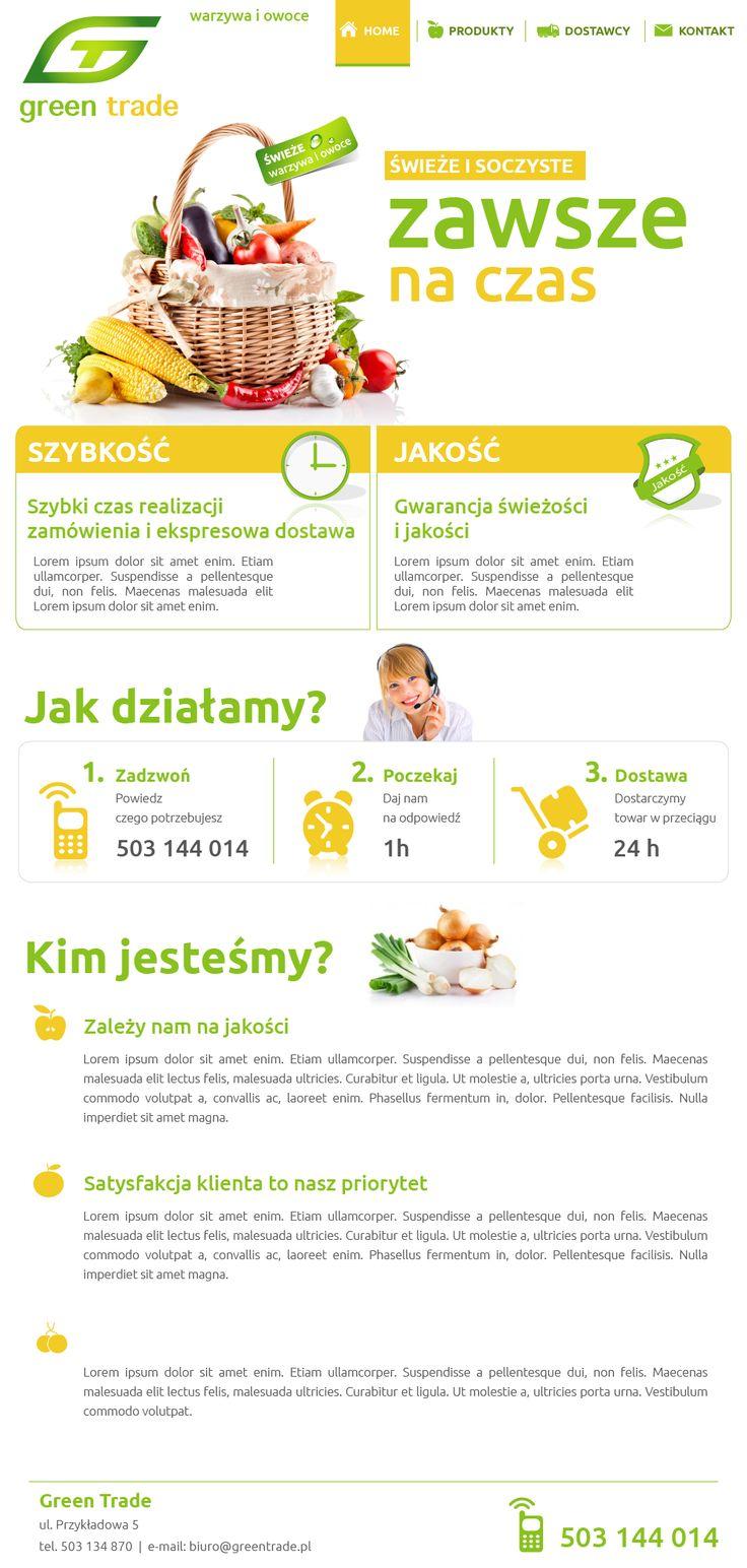 Website for Green Trade | Design: www.pinkelephant.pl /web design /layout /portfolio /web /design