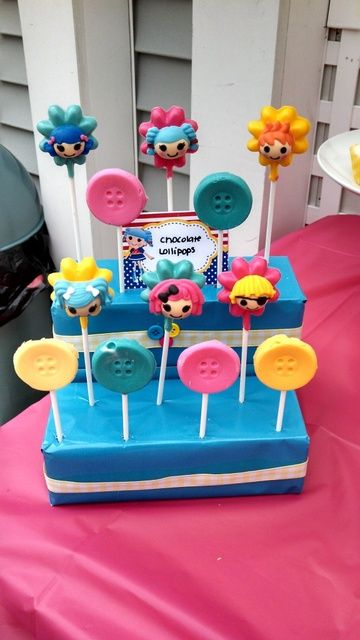 Lollipops at a Lalaloopsy Party #lalaloopsy #party