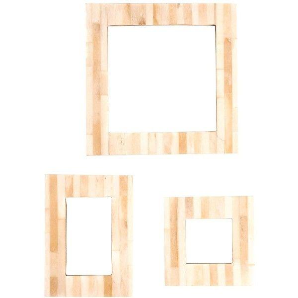 Antique Striped Bone Frame design by Vagabond Vintage (160 DKK) ❤ liked on Polyvore featuring home, home decor, frames, cream picture frames, antique home decor, bone picture frames, bone frames and antique frames