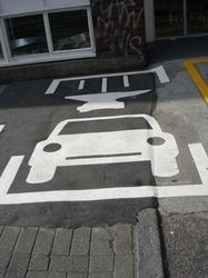 Parking space with attitude! Wicked #streetart