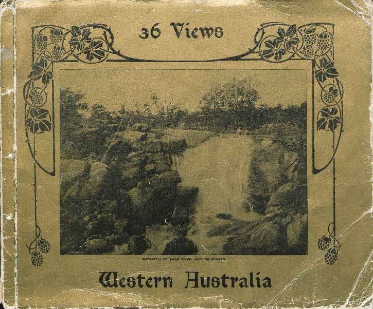 Souvenir of Western Australia, ca.1900. Includes Swan River, early buildings and churches, Barrack Street bridge, Fremantle.   http://encore.slwa.wa.gov.au/iii/encore/record/C__Rb1156402