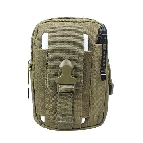 Multi-Purpose Poly Tool Holder Pouch Camo Bag Military Nylon Utility Tactical Waist Pack Camping Hiking Pouch with Zipper (Army Green). For product & price info go to:  https://all4hiking.com/products/multi-purpose-poly-tool-holder-pouch-camo-bag-military-nylon-utility-tactical-waist-pack-camping-hiking-pouch-with-zipper-army-green/