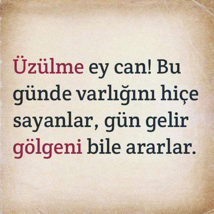 Üzülme ey can. Bugün de varlığını hiçe sayanlar gün gelir gölgeni bile ararlar! #günaydın #goodmorning #üzülme #askmeclisicom #aşk #love #sevgi #mutluluk #happy #özlemek #kavuşmak #şiir #türkiye #istanbul #izmir #ankara #derttaş #edebiyat #hasret #melek #yunusemre #mevlana #şemsitebrizi #cemalsüreya #namıkkemal