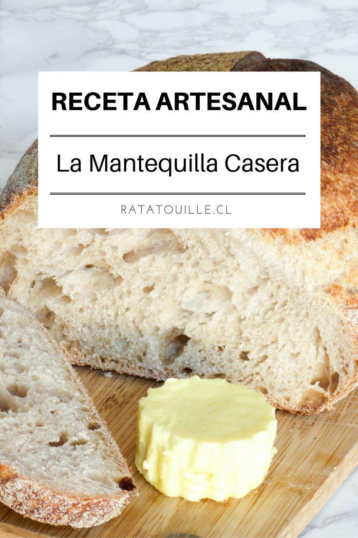 ¡Me encanta la mantequilla casera! La receta de la mantequilla artesanal es fácil y rápida, haz click en la imagen para ver la receta en el blog.