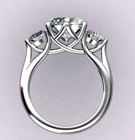 172 Best Three Stone Rings Images On Pinterest