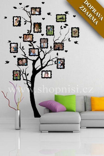 SAMOLEPKY NA ZEĎ | Stromy | Strom na rodokmen, 185 x 100 cm | Shopni si - Samolepky nejen na zeď