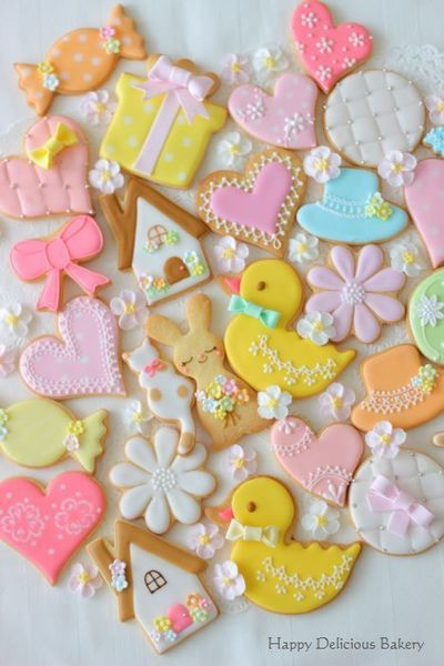 春色アイシングクッキー♪