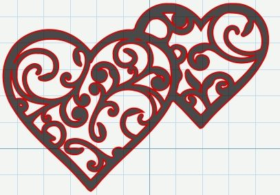 FREE SVG File – Filigree Swirly Hearts for Valentine's Day | Miss Vickie's CuttingCrazy Blog