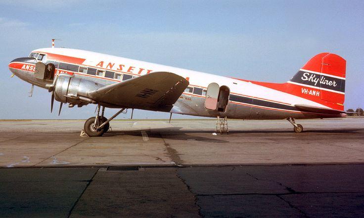 Ansett Douglas DC-3 VH-ANH in Ansett ANA livery