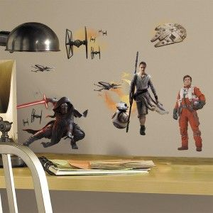 Star Wars 7 Characters Peel and Stick Wall Decals