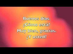 """""""Buenos Días"""" song to the tune of """"Frere Jacque""""."""