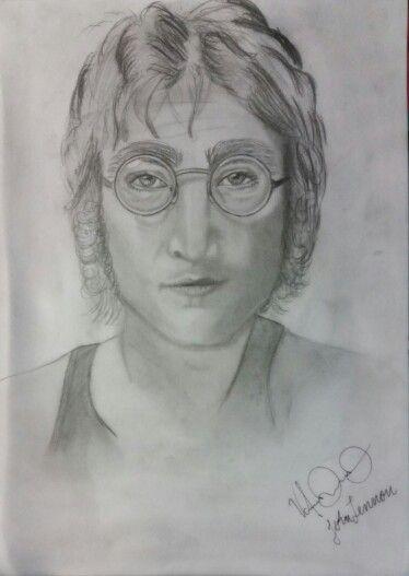 John Lennon a lapiz