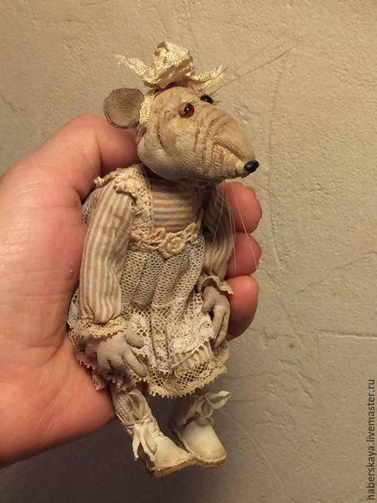 Коллекционные куклы ручной работы. Ярмарка Мастеров - ручная работа. Купить Крыса Ася. Handmade. Комбинированный, Хаберская, текстиль