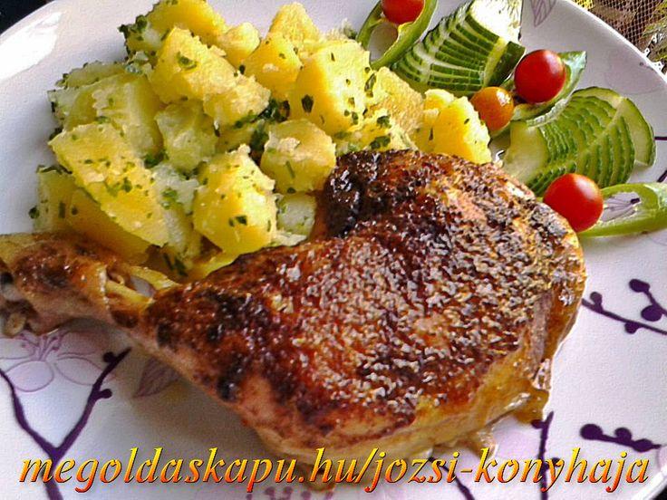Rozmaringos, citromos sült csirkecomb http://megoldaskapu.hu/csirkecomb-receptek/rozmaringos-citromos-sult-csirkecomb Rozmaringos, citromos sült csirkecomb | CSIRKECOMB Receptek | Megoldáskapu
