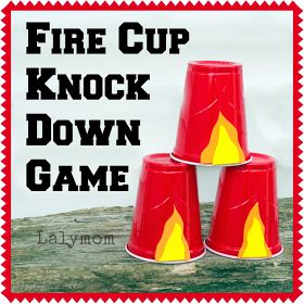 LalyMom Kids Crafts and Activities: 3 Easy Fire Safety Activities for Kids.  Maybe know the cups down in bath tub???