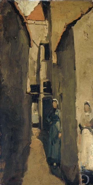 George Hendrik Breitner Buurtje in Den Haag of Scheveningen 1872-1923 Amsterdam, Rijksmuseum, inv./cat.nr. A 3528 #ZuidHolland #Scheveningen