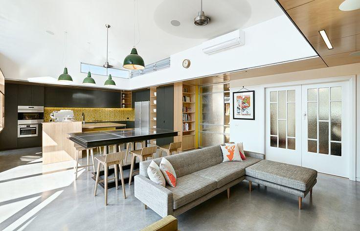 Habitus Living Laneway House Zen Architects open plan
