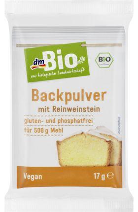 Reinweinstein entsteht auf natürliche Weise bei der Weinherstellung. Das dmBio Backpulver verleiht dem Teig eine lockere Struktur und eignet sich sich für...