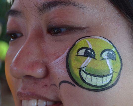 Tennis:  Australian Open 2012 Painted by Cheekyface.co