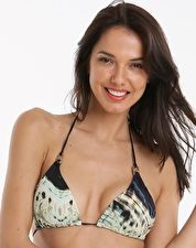 Aguaclara Exotic Princess Triangle Top - Print For a tropical poolside look invest in the Aguaclara Exotic Princess Triangle Bikini Top, with its animal print and dashes of forest green and gold metal detailing on the neck straps http://www.comparestoreprices.co.uk/january-2017-9/aguaclara-exotic-princess-triangle-top--print.asp