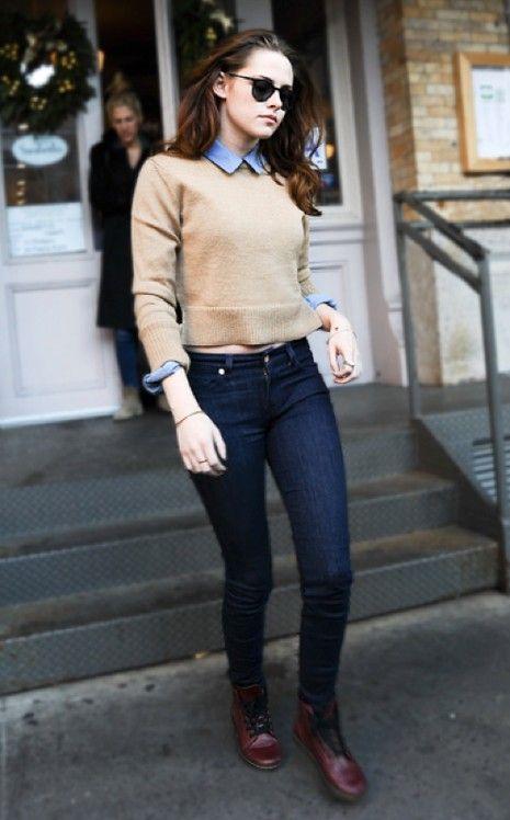 On craque pour le look de Kristen Stewart dans son jeans skinny 7 for all Mankind!