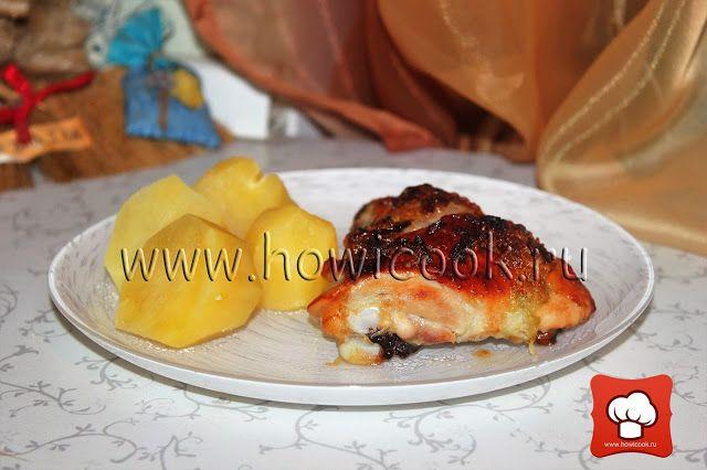 Курица, запеченная с медом и чесноком