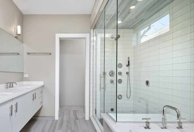 Custom Glass Shower Doors Installation In Chicago Area With