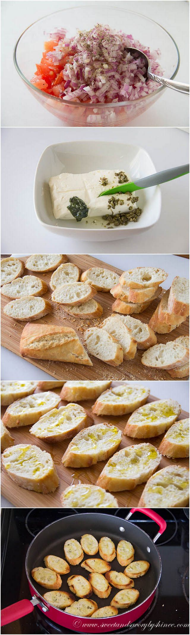 Learn how to make crostini in less than 30 minutes! These smoked salmon crostini are the simplest, yet most flavorful appetizer you can offer at the cocktail party.