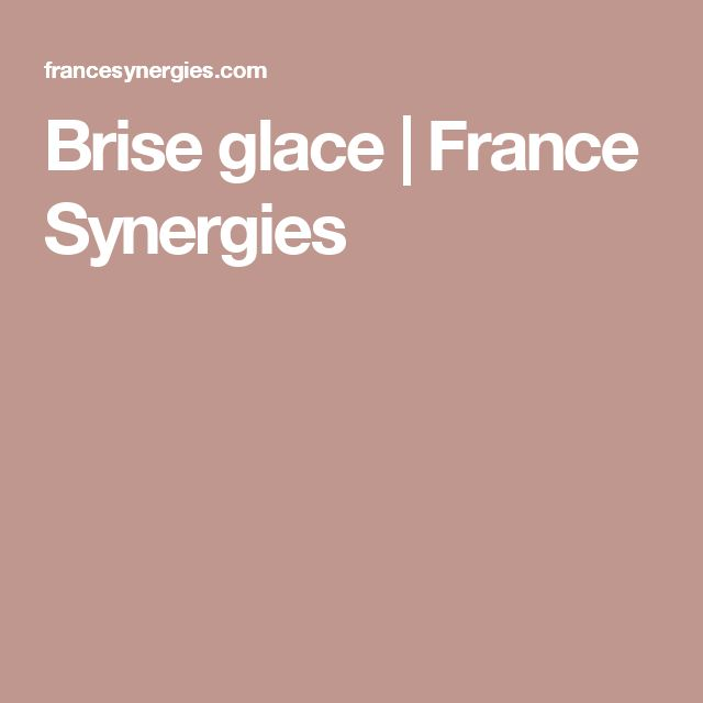 Brise glace | France Synergies