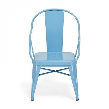 Tolix Blue Mouette Children's Armchair Designed by Xavier Pauchard for Tolix, this children's chair is the smaller version of the iconic Mouette armchair.