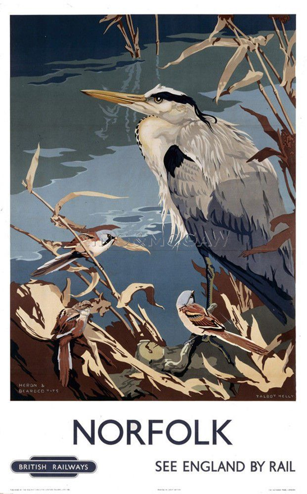 Norfolk - Heron Art Print by National Railway Museum at King & McGaw