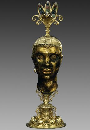 Chistoph Jamnitzer: Deckelpokal in Form eines Mohrenkopfes (The Moor Goblet), 1593-1602. Bayerisches Nationalmuseum