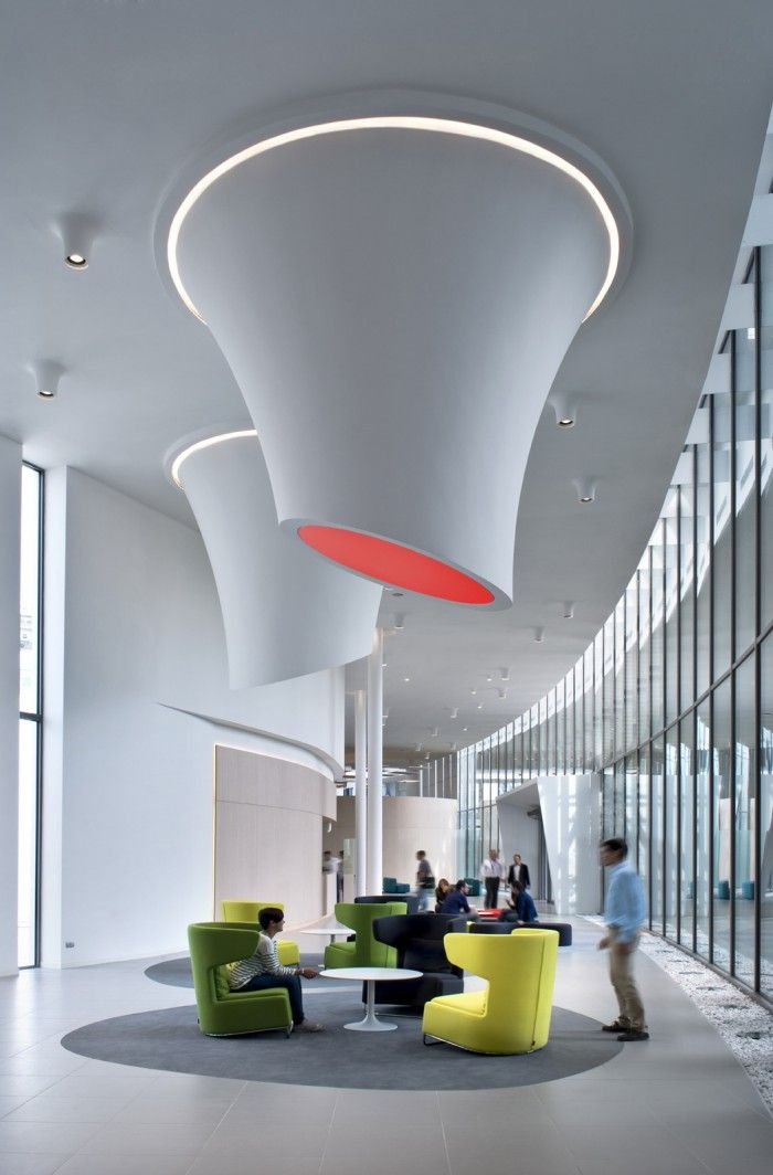 Alcatel-Lucent, Milan / DEGW -- What the heck is that in the ceiling?  I want!