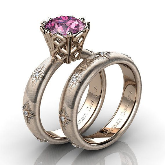 Gorgeous Italian 14K Rose Gold Rigato 2.2 Ct by GormanDesigns