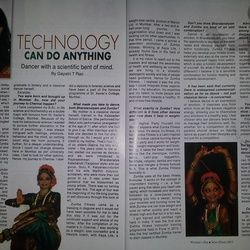 WOMAN'S ERA MAGAZINE JUNE(FIRST) 2013 (pg 92-93)  Recently, when I was looking at what people had posted, I came across a post which said that the girl was depressed since she was late to her Zumba Class and did not get her usual place. I Googled the word Zumba, trying to explore what Zumba is, that day I stumbled upon Swetha Jairam's Website. Swetha is a talented Bharatnatyam Dancer, professional Choreographer, a Zumba Instructor, Weight loss Counselor and a lifestyle coach.
