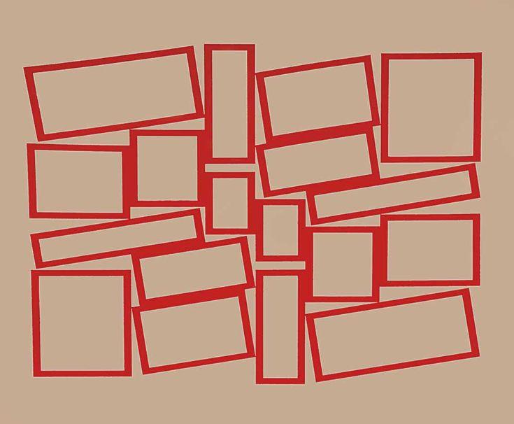 Hélio Oiticica. Metaesquema, 1958. Guache sobre cartão, 52,2 × 63,5 cm.