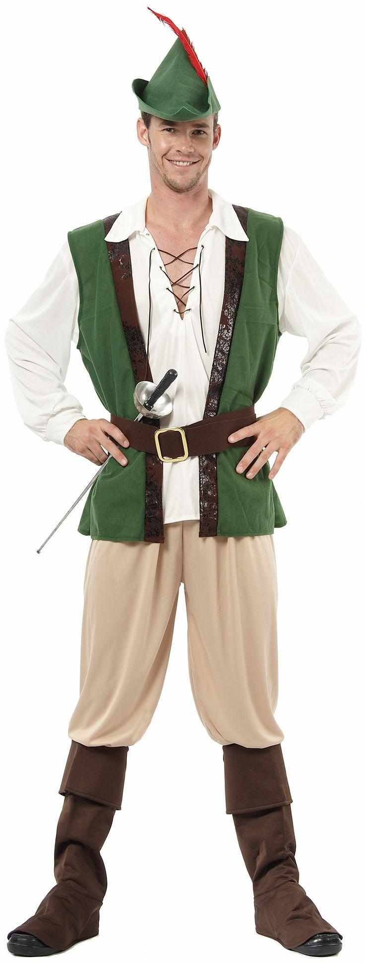 Dit Robin Hood kostuum met prestigieuze details en verzorgde afwerking bezorgt u de elegantie van de beroemde struikrover bij uw verkleedfeestjes of bij carnaval.