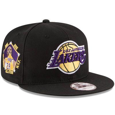 New Era Kobe Bryant Los Angeles Lakers Player Black 9FIFTY Adjustable Hat