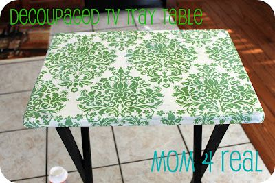 Mod Podged TV Tray Table