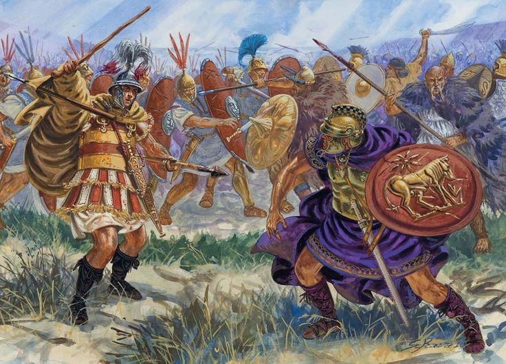 Romans fight Pyrrhus, III cent. BC.