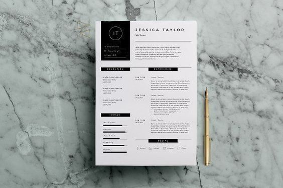 Resume Template 3 Page   CV Template by The Template Depot on @creativemarket Ready for Print Resume template examples creative design and great covers, perfect in modern and stylish corporate business. Modern, simple, clean, minimal and feminine layout inspiration to grab some ideas.