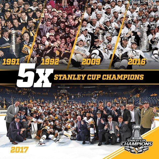 "54.3k Likes, 266 Comments - Pittsburgh Penguins (@penguins) on Instagram: ""Count' em! #StanleyCup"""