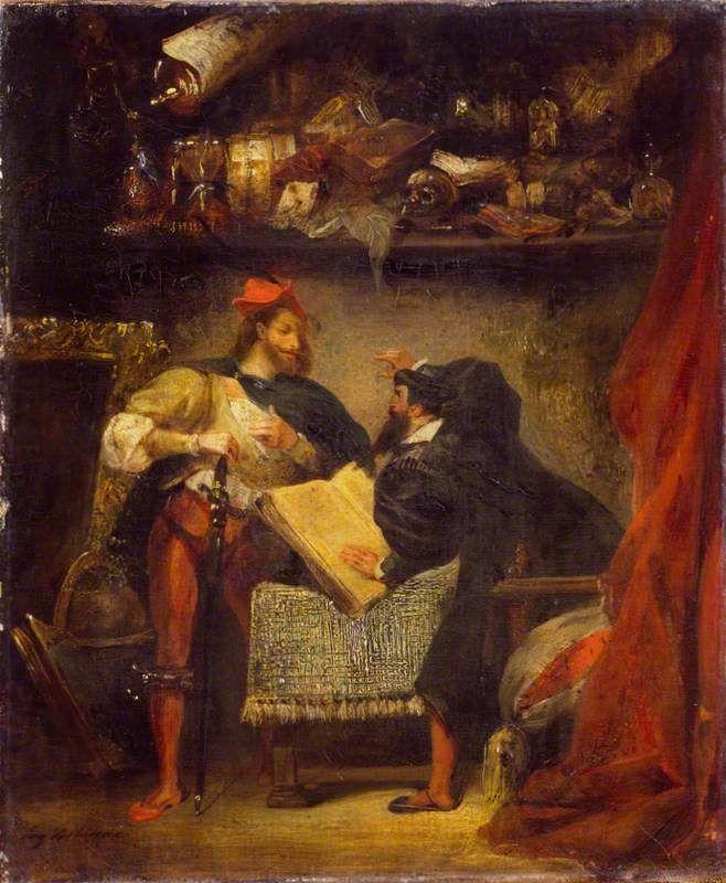 Faust et Méphistophélès, by Delacroix, 1827/28