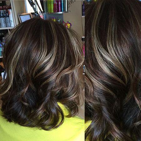 best highlights to cover gray on dark hair  medium brown