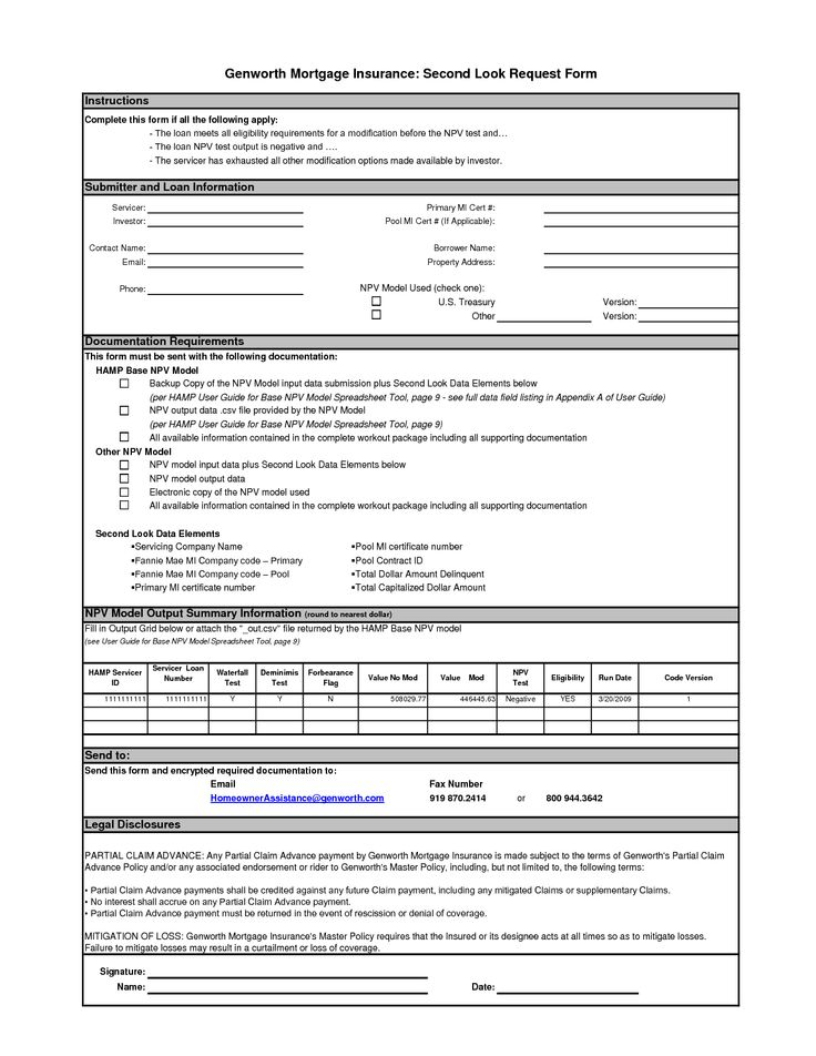 mortgage document template