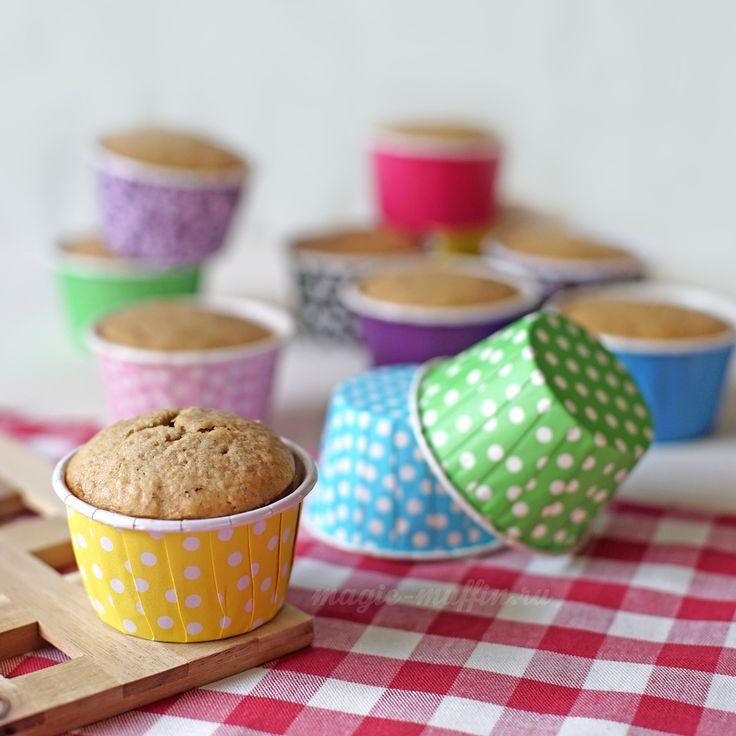 Формочки с манжетом: горох на жёлтом, 6 шт. капкейк маффин торт декор крем выпечка рецепт cupcake muffin cake cup baking frosting decor birthday